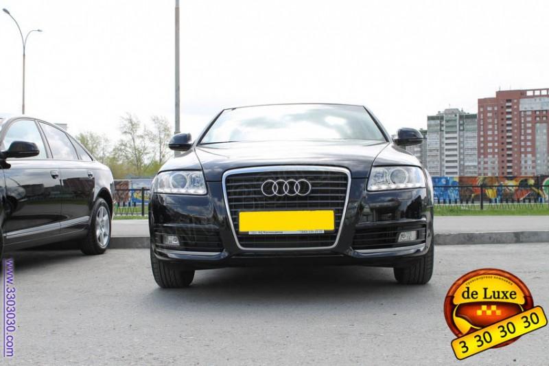Вид спереди Автомобиль Ауди А6 фото (такси De Luxe)